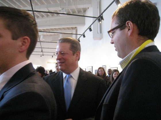 Meeting Al Gore at Obama's 2009 Inauguration